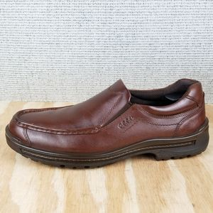 ECCO Leather Loafer Slip on Shoes Brown 46-EU